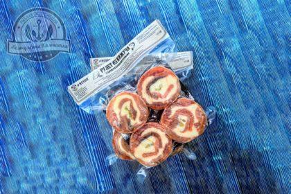 Рулет из кижуча с сыром и кедровыми орешками