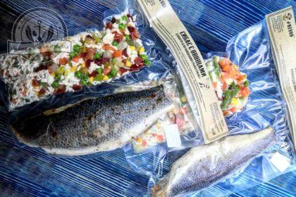 Сибас  с овощами ~500 гр