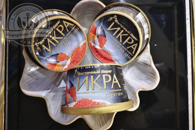 ikra lososevyh ryb bez konservantov gorbushi vostochnyj bereg 125 gr