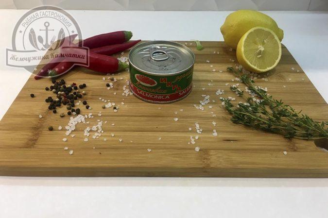 ikra lososevyh ryb solenaya gorbushi salmonica 140 gr