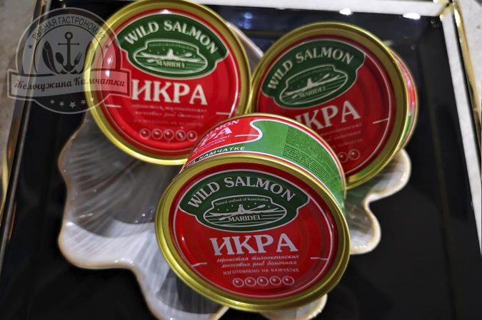 Икра зернистая  дальневосточных лососевых рыб соленая горбуши maridel  140 гр