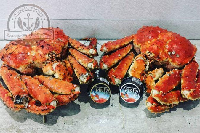 krab kamchatskij komplekt konechnostej v panczire vareno morozhenye
