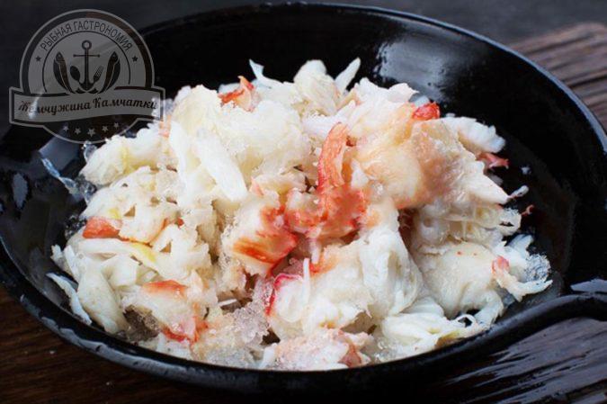 myaso kraba vareno morozhenoe strigun salatnoe