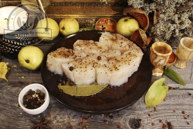 treska file v pryano solevoj zalivke s maslom 400 gr