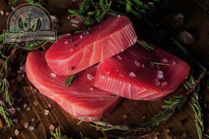 zamorozhennye porczionnye stejki tuncza premium bez kozhi bez kostej individualnoj zamorozki