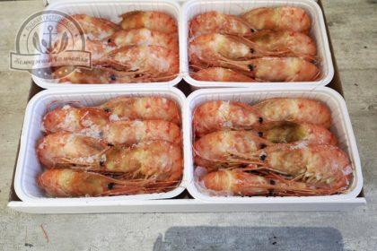 Креветки Ботан варено-мороженые 500 гр