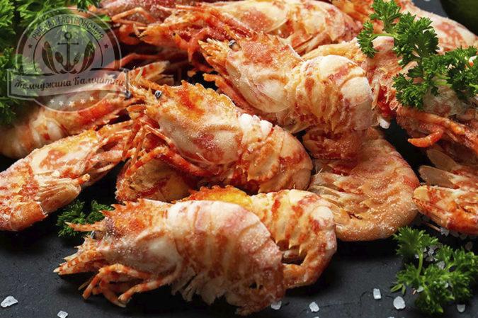 krevetki grenlandskie vareno morozhenye 1 kg