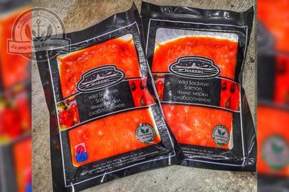 Ломтики нерки  соленые  «maridel» 100 гр