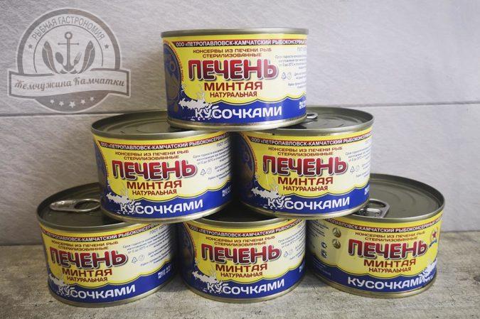 Печень минтая натуральная 227 гр