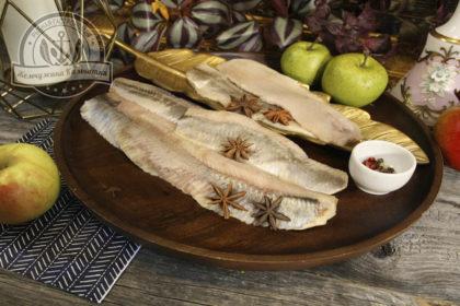 Филе сельди тихоокеанской (олюторской)без кожи солено-мороженое