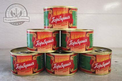 Горбуша в томатном соусе 220 гр