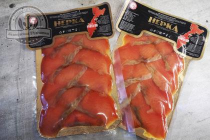 Ломики нерки (красной) холодного копчения 100 гр