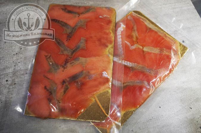 Ломики нерки (красной) солено-мороженые 100 гр