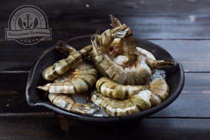 Тигровая сыромороженая креветка в панцире 1 кг