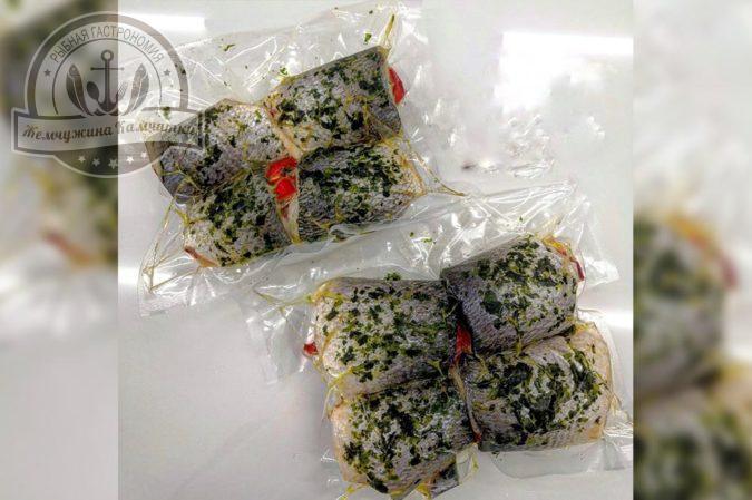 Рулеты из дорадо с сыром и овощами ~ 450 гр